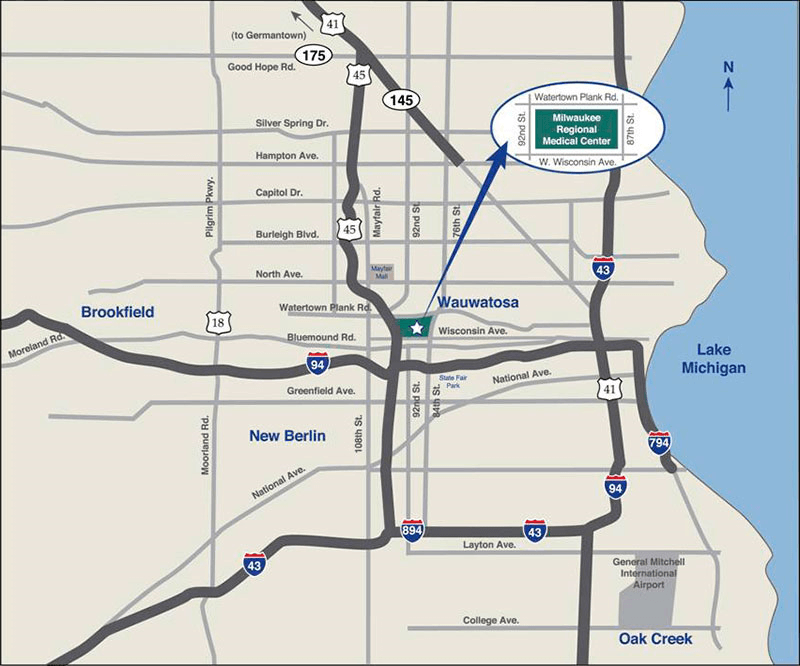 Milwaukee-Area Map